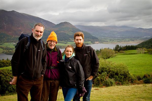 Gordon Robin Kate Andrew. Bassenthwaite Lake in the background