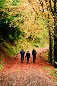 Andrew Kate Gordon - resisting the temptation to run through the leaves