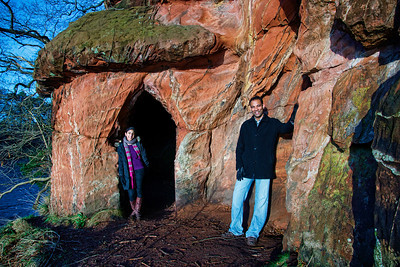 Posing at Lacy's Cave in Lake District