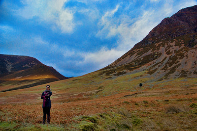 Smitha poses at Honister Pass