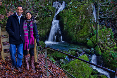 Us at the upper Stock Ghyll Force waterfalls
