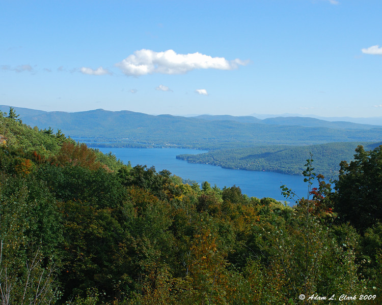 Lake George from the parking lot near the summit