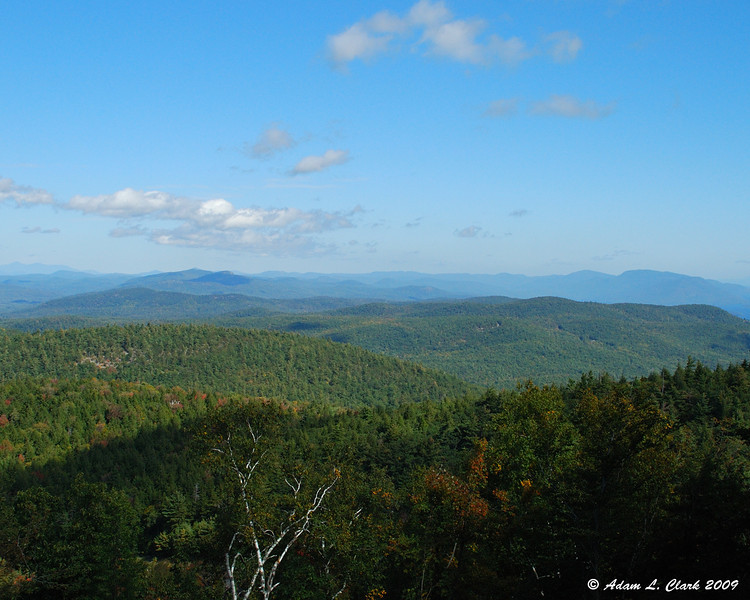 Looking Northeast from a viewing area on the road to the summit