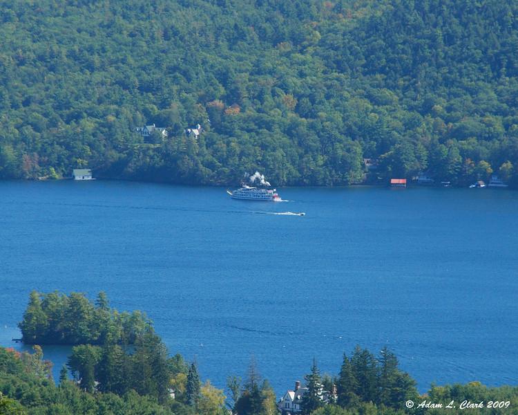 Paddleboat on the lake