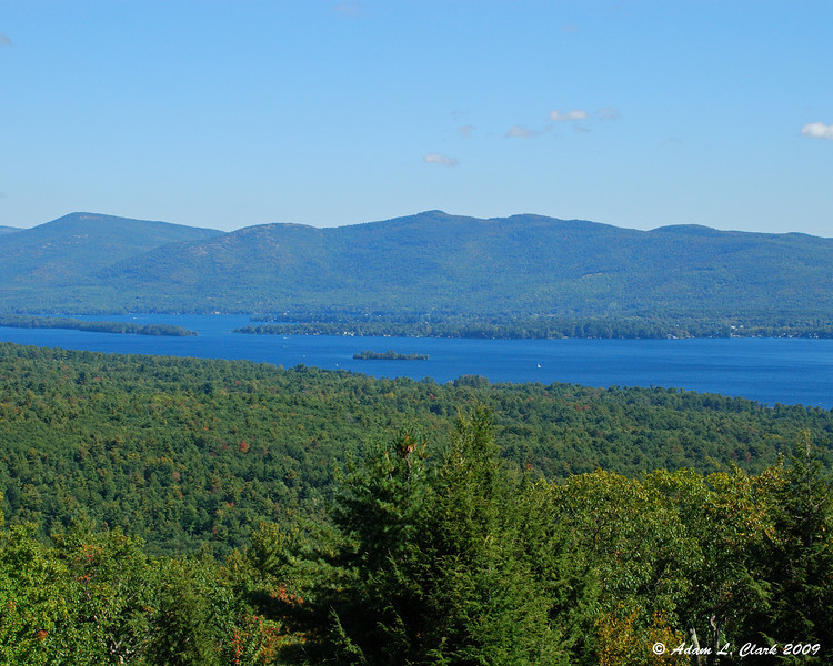 Lake George from one of the scenic overlooks along the summit road