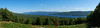 Panoramic of Lake George from one of the scenic overlooks along the summit road