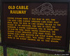 Informative sign about the old cable railway to the summit