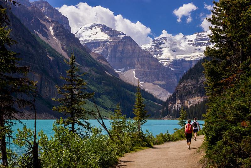Lake Louise trail.