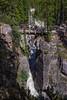 Foot bridge over Sunwapta Canyon below Sunwapta Falls.