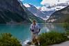 Jan's photo of me beside Lake Louise.