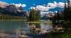 Spirit Island on Maligne Lake in Jasper Nat'l Park. To my eye it is a living poster.