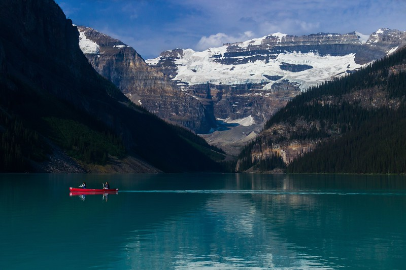Lake Louise early in the morning.