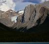 Maligne Lake mountain backdrop, Jasper National Park, Canada.