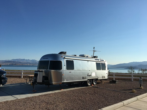 Parked at Lake Mead with a view