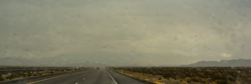 Yup, rain in the desert