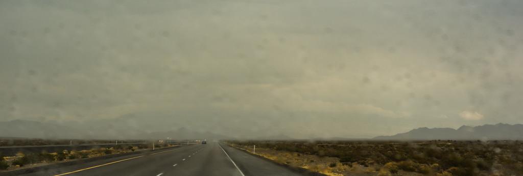Yup, rain in the desert