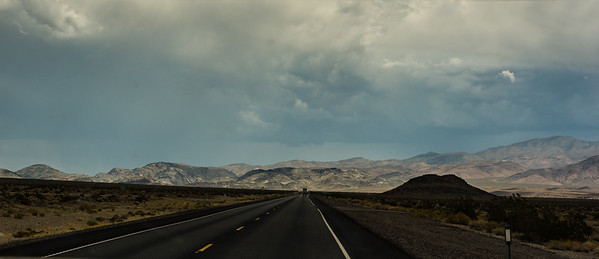 Oncoming desert rain