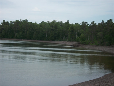 Bay near Copper Harbor Lighthouse.