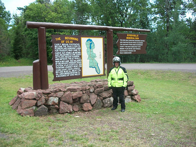 The starting point of US 41 near Ft. Wilkins State Park; Copper Harbor.
