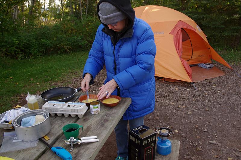 Rita's camp kitchen, Temperance River State Park, Minnesota.