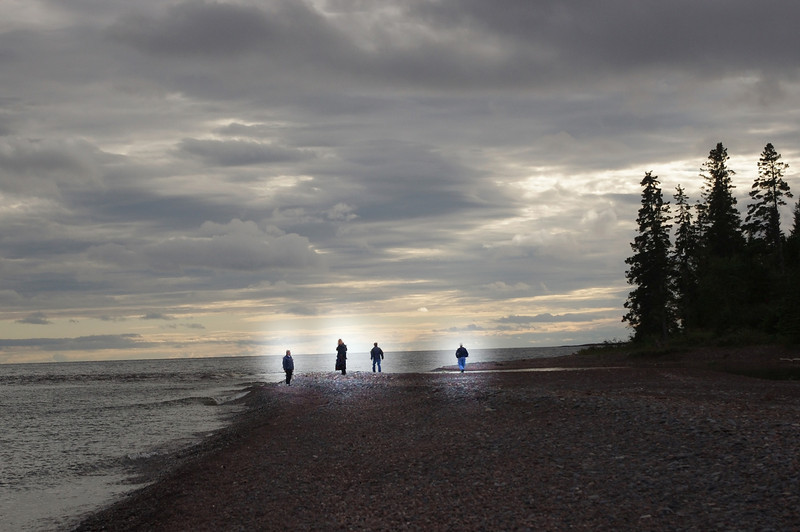 The Searchers. Travelers from another dimension briefly visit the North Shore, protected from cold winds by their force fields.