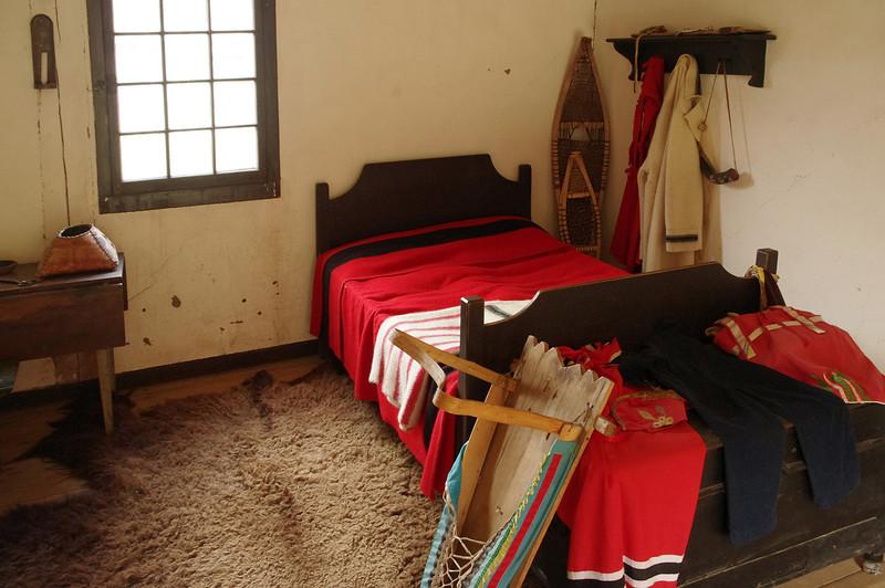 Bedroom, Fort William Historical Park, Ontario.