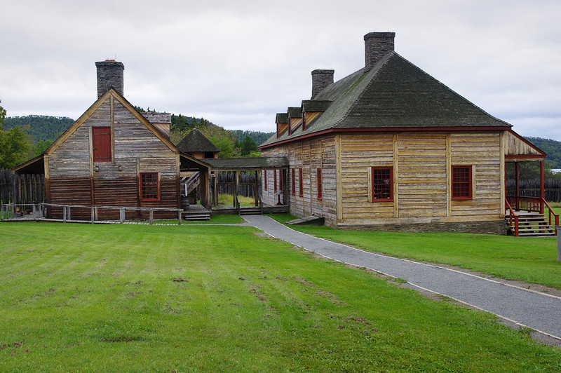 Grand Portage National Monument includes a replica of a Northwest Trading Company outpost.