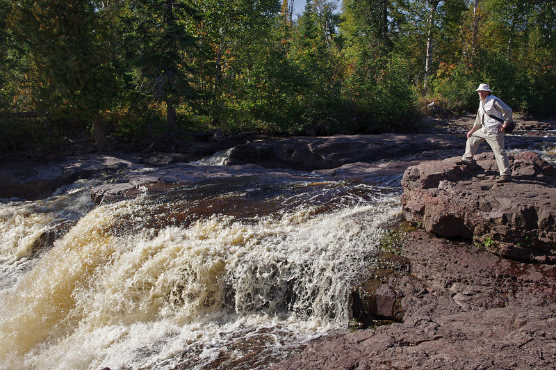 Gary standing above the falls on the Temperance River, Temperance River State Park, Minnesota.