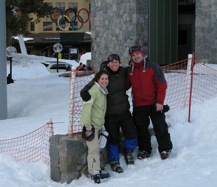 Me, Rachel, and Ken at the base of Squaw Valley