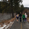 The next day we walked along the Truckee river