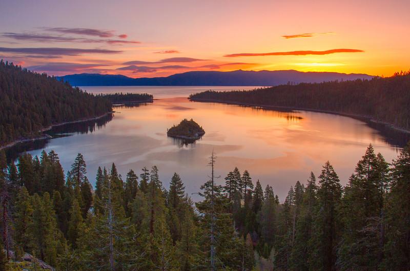 Sunrise Emerald Bay Lake Tahoe