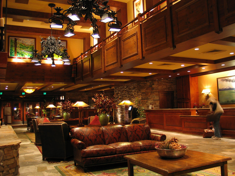 This is the front desk lobby of the Hyatt Regency at Incline Village, Nevada.