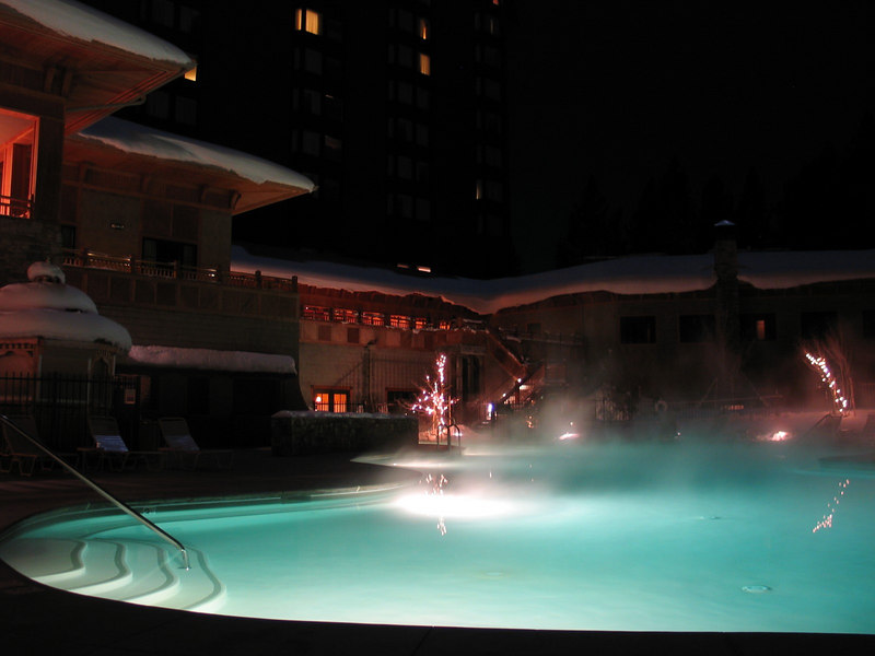 Another view of the heated pool - it was probably 20'F outside, but the pool was really warm!