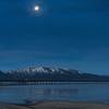 Setting Moon Lake Tahoe Pre-Dawn