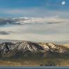 Setting Moon Lake Tahoe Early Morning