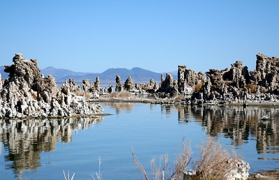 "These pics of ""Tufa towers"" were taken at Mono Lake.  Tufa towers are calcium-carbonate spires and knobs formed by interaction of freshwater springs and alkaline lake water....whatever that means.  I just copied that text from a web-page."
