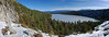 Cascade Falls Trail on left, Cascade Lake (best viewed in x3)