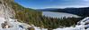 Cascade Falls Trail on left, Cascade Lake (best viewed in x3)