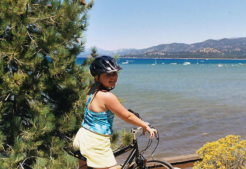 Rosebud on a Bike at Tahoe