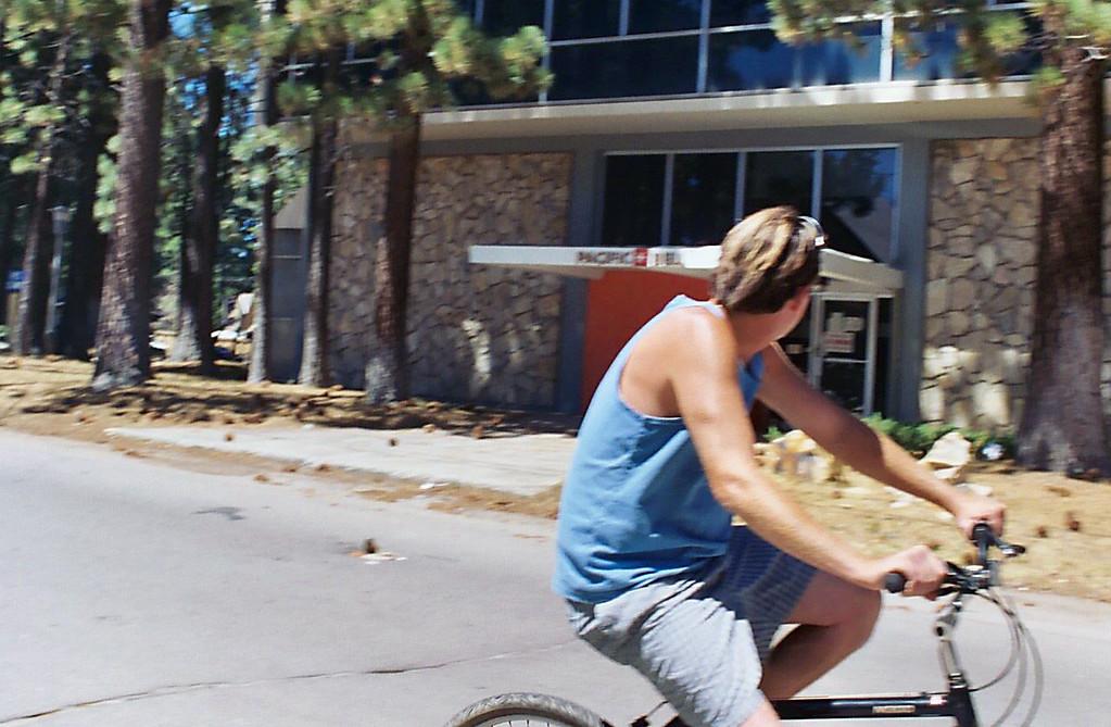 Steve biking Lake Tahoe 2003