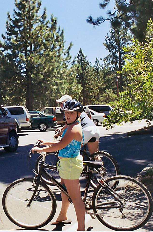 Sarah & Lisa biking Tahoe