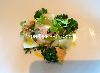 Poached Free Range EGG, Broccolini Salad, with Truffle Dressing & Reggiano