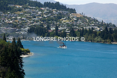 QUEENSTOWN, NZ   Lake Wakatipu   Ship ERANSLAW in center.