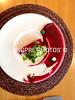 Red melon, Smoked Beet Puree, Goat Cheese & Wood Sorrell Granita