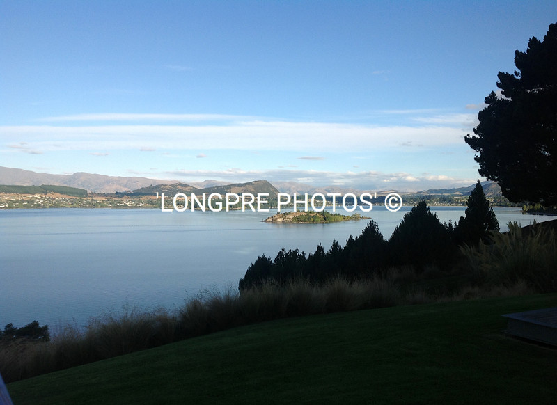 Evening view of town WANAKA from Lodge grounds.
