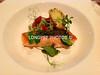 Aoraki SALMON seared, with FENNEL & BLOOD ORANGE SALAD.<br /> Salt-cod CROQUETTE and Salsa Verde