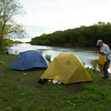 Campsite at Junction of Netley Creek & Red River