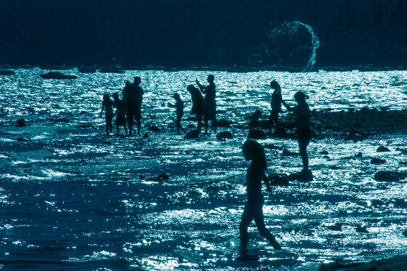 Late Swim at Kings Beach