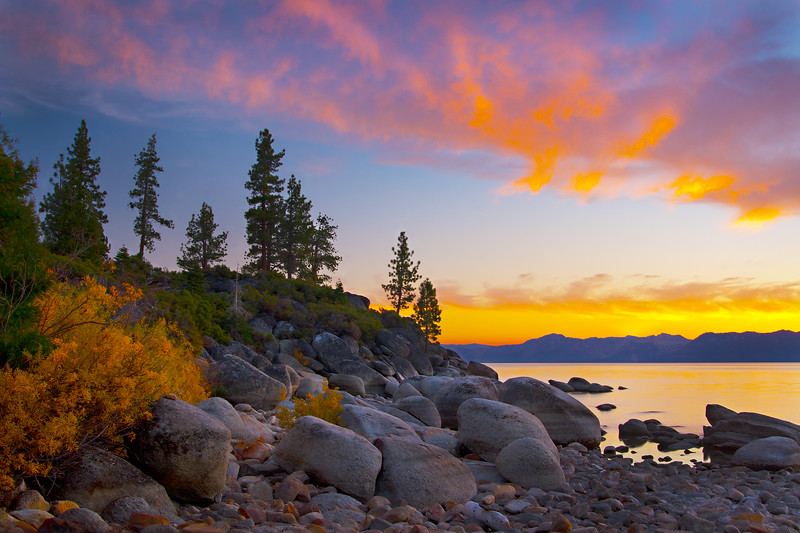 October Sunset at Lake Tahoe