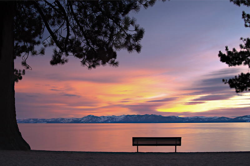 Incline Beach at Sunset